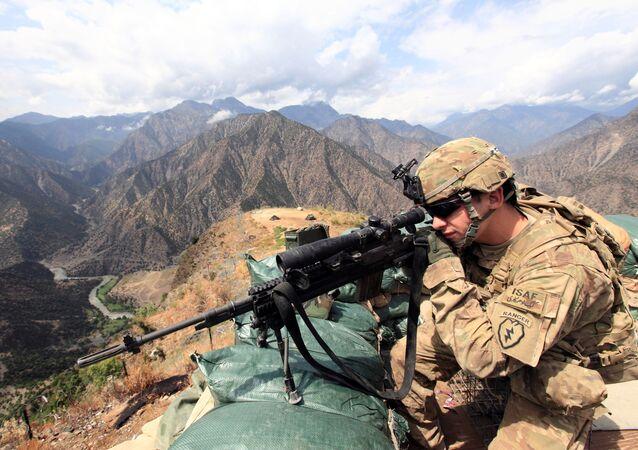 Lejtnant amerykańskiej armii w Afganistanie