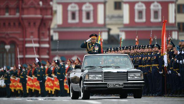 Parada Zwycięstwa na Placu Czerwonym w Moskwie, minister obrony Siergiej Szojgu - Sputnik Polska