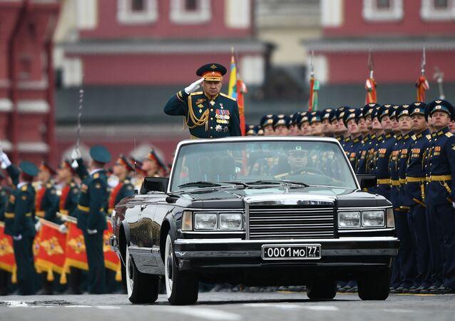 Parada Zwycięstwa na Placu Czerwonym w Moskwie, minister obrony Siergiej Szojgu