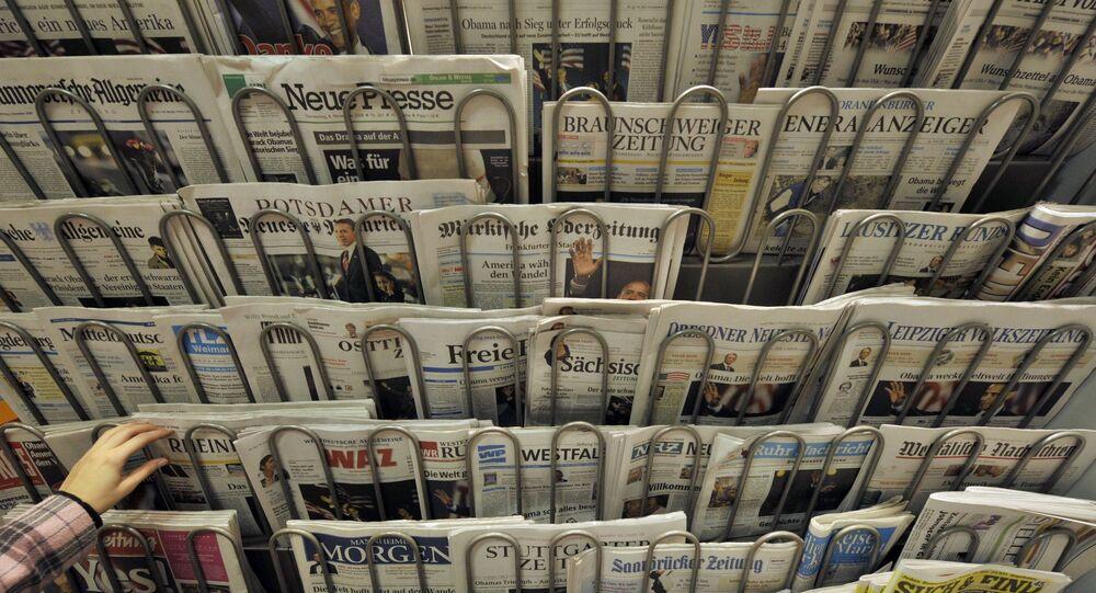 Kiosk z gazetami w Berlinie