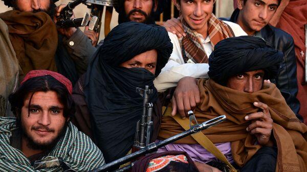 Członkowie organizacji Taliban w prowincji Farah, Afganistan. Zdjęcie archiwalne - Sputnik Polska
