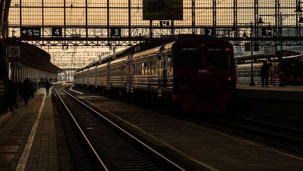 Pociąg REX na platformie Dworca Kijowskiego - Sputnik Polska