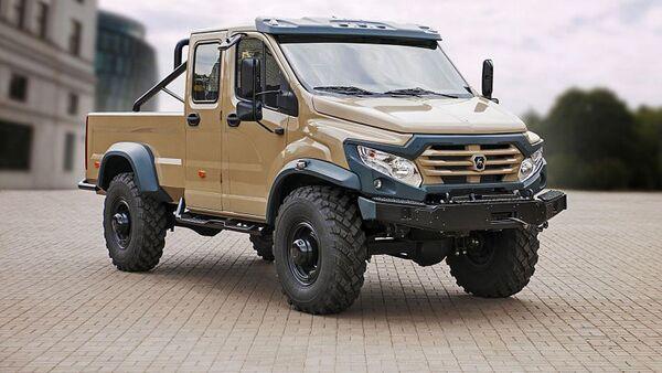 GAZ stworzył pickup na bazie ciężarówki wojskowej GAZ-33088 - Sputnik Polska