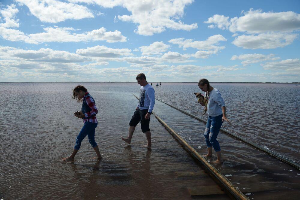 Słone jezioro w Kraju Ałtajskim