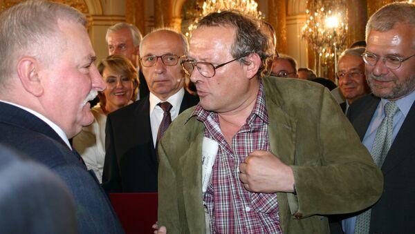 Adam Michnik i Lech Wałęsa. Warszawa - Sputnik Polska
