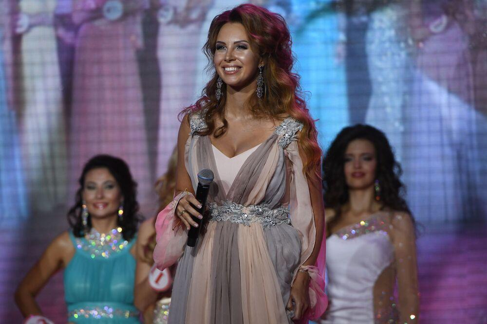 Polina Dibrova podczas finału rosyjskiego konkursu Miss Rosji 2017