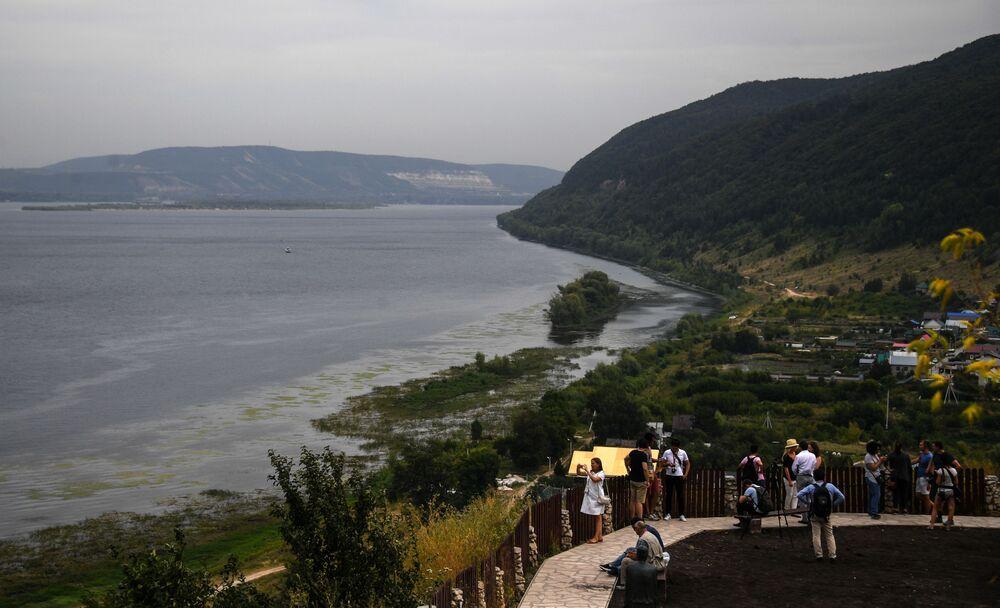 Widok na Wołgę od strony rezerwatu Żygulowskiego.