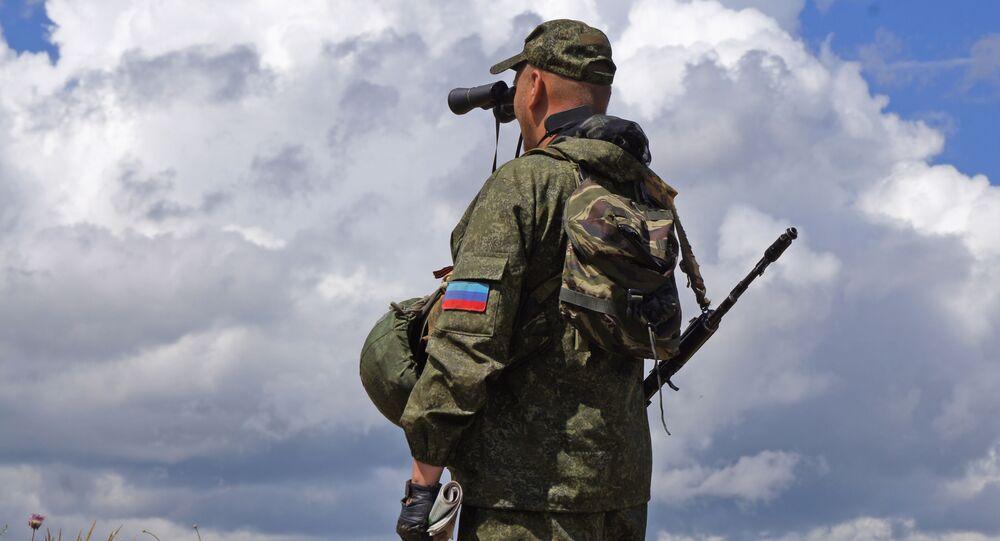 Milicja ludowa ŁRL na linii demarkacyjnej w Donbasie