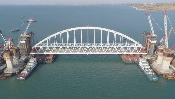Łuk kolejowy Mostu Kerczeńskiego - Sputnik Polska