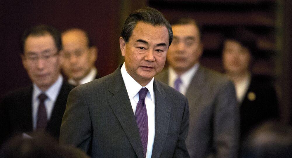 szef MSZ ChRL Wan Yi na uroczystości poświęconej 10-leciu podpisania wspólnego oświadczenia o zasadach denuklearyzacji Półwyspu Koreańskiego
