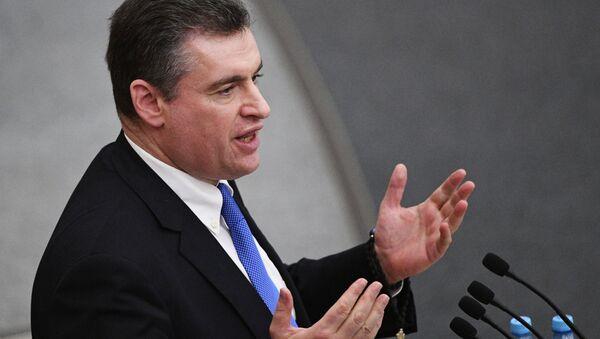 Przewodniczący komisji do spraw międzynarodowych Dumy Państwowej Leonid Słucki - Sputnik Polska