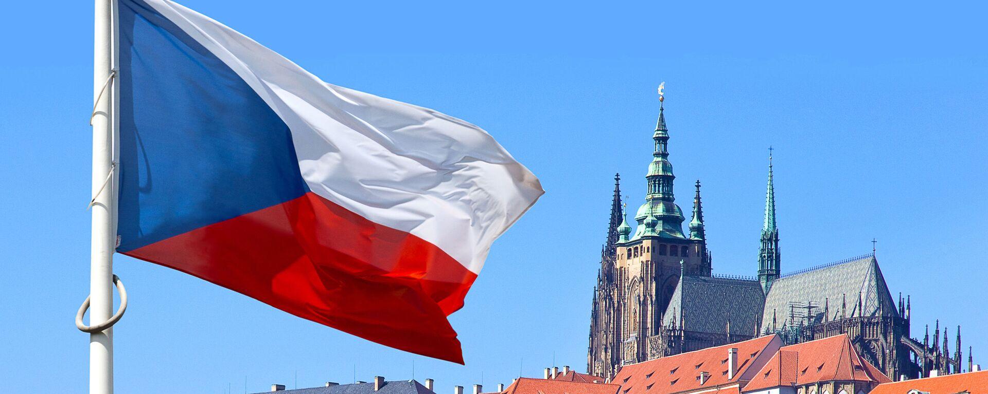 Czeska flaga w historycznym rejonie Pragi - Sputnik Polska, 1920, 20.04.2021