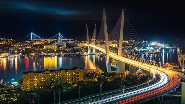 Władywostok w nocy - Sputnik Polska