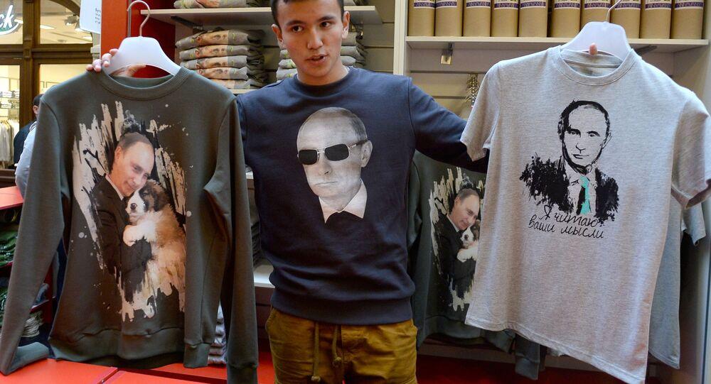 Zdjęcia Władimira Putina na koszulkach