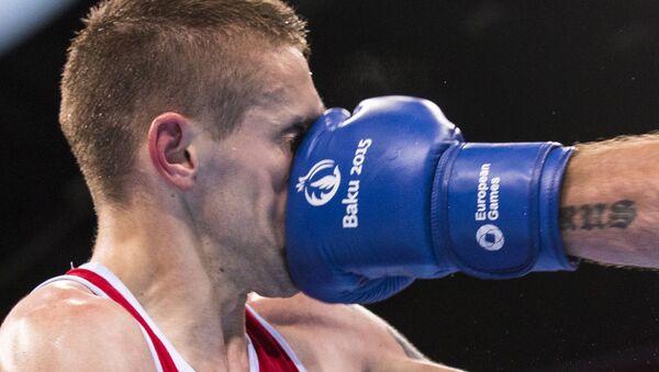 Mecz bokserski podczas I Igrzysk Europejskich w Baku - Sputnik Polska