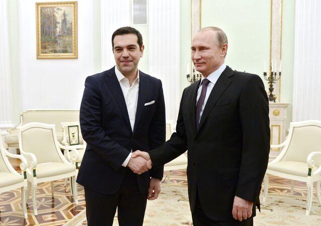 Władimir Putin i Aleksis Tsipras