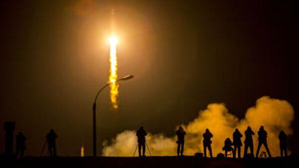 Start statku kosmicznego Sojuz z kosmodromu Bajkonur - Sputnik Polska