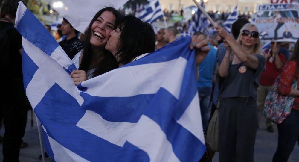Zwolennicy odrzucenia propozycji wierzycieli w Atenach świętują zwycięstwo, Ateny