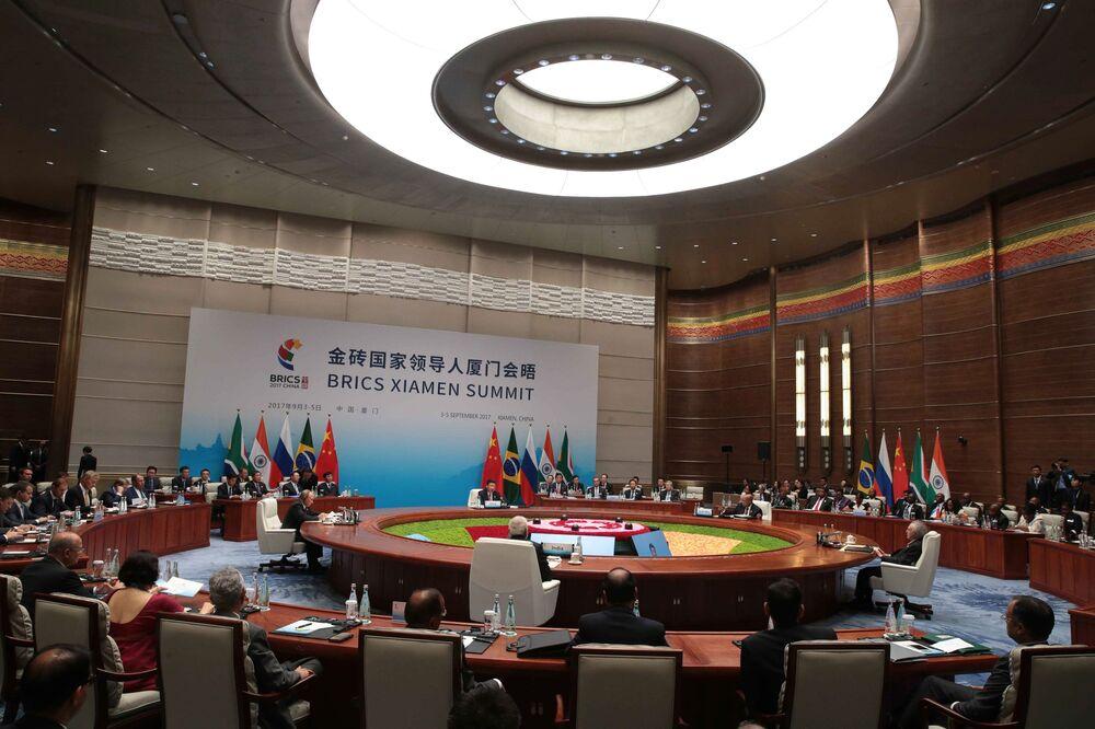Władimir Putin podczas spotkania liderów BRICS