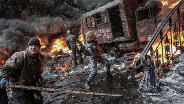 Euromajdan w Kijowie - Sputnik Polska