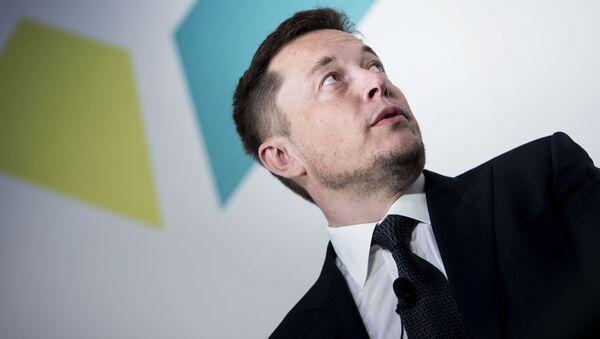 Założyciel i szef Tesla Inc  SpaceX Elon Musk w Waszyngtonie - Sputnik Polska