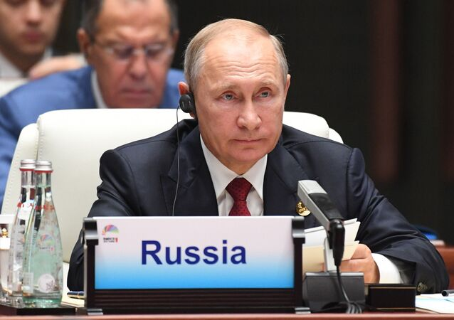Prezydent Rosji Władimir Putin podczas spotkania przywódców BRICS z szefami państw zaproszonych