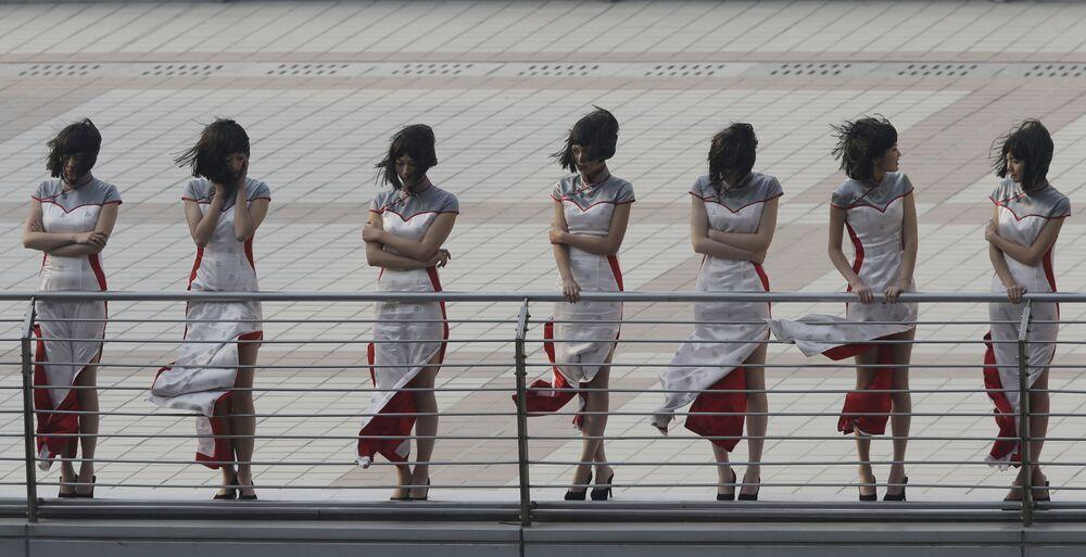 Hostessy podczas Grand Prix w Szanghaju, Chiny