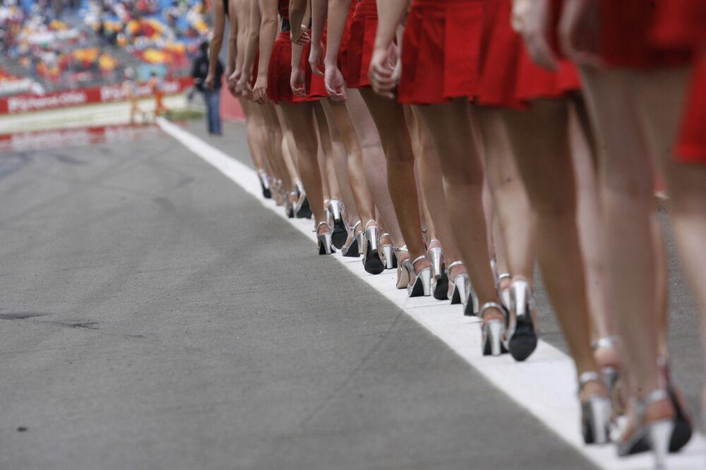 Hostessy podczas Grand Prix w Turcji