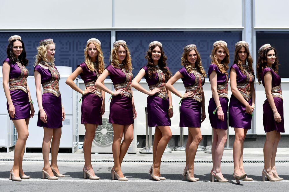 Hostessy podczas Grand Prix w Azerbejdżanie