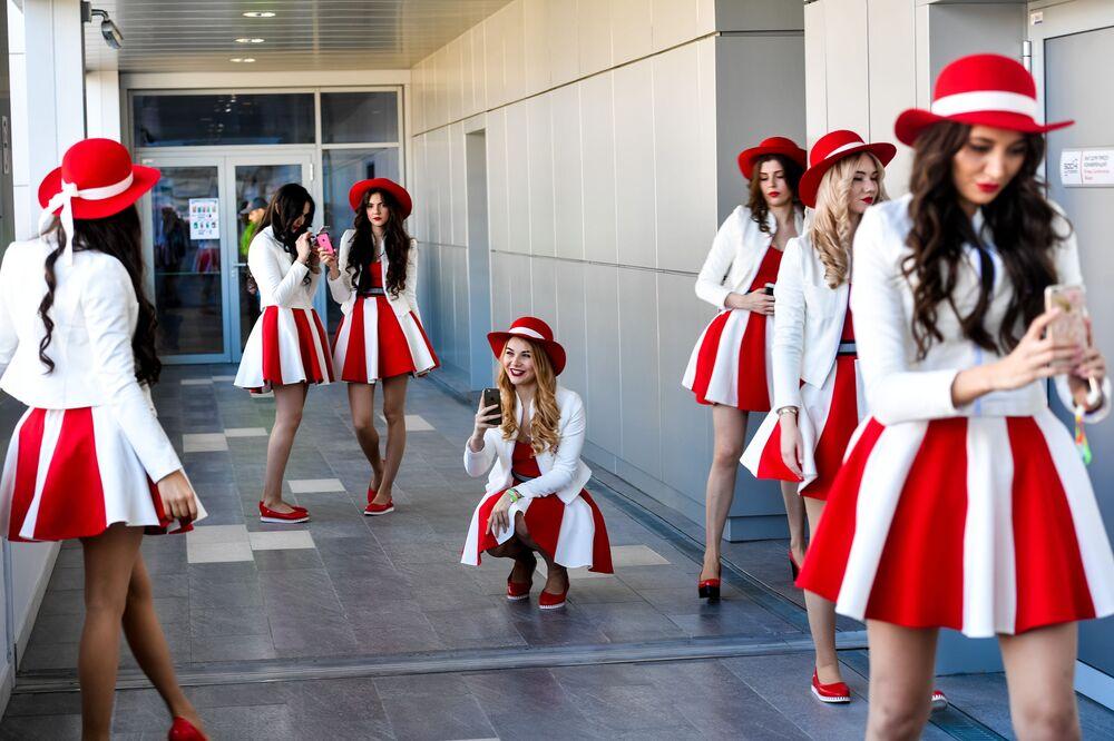 Hostessy podczas Mistrzostw Świata w Formule 1