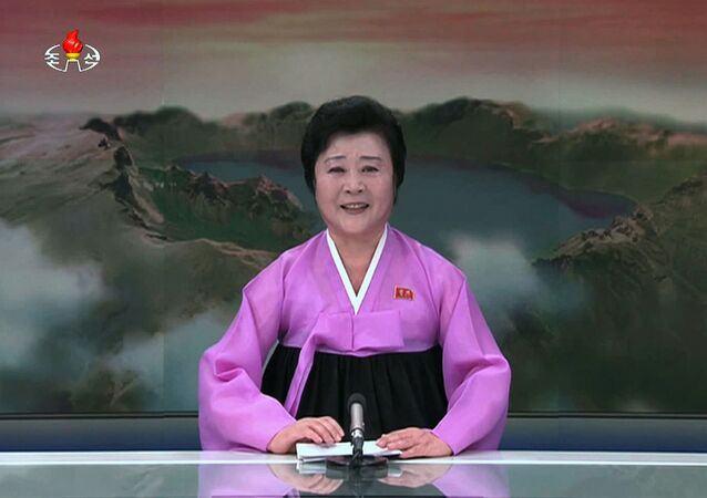 Północnokoreańska prezenterka telewizyjna Ri Chun Hi