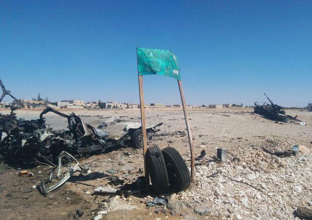 Widok na miasto Akerbat w prowincji Hama w Syrii