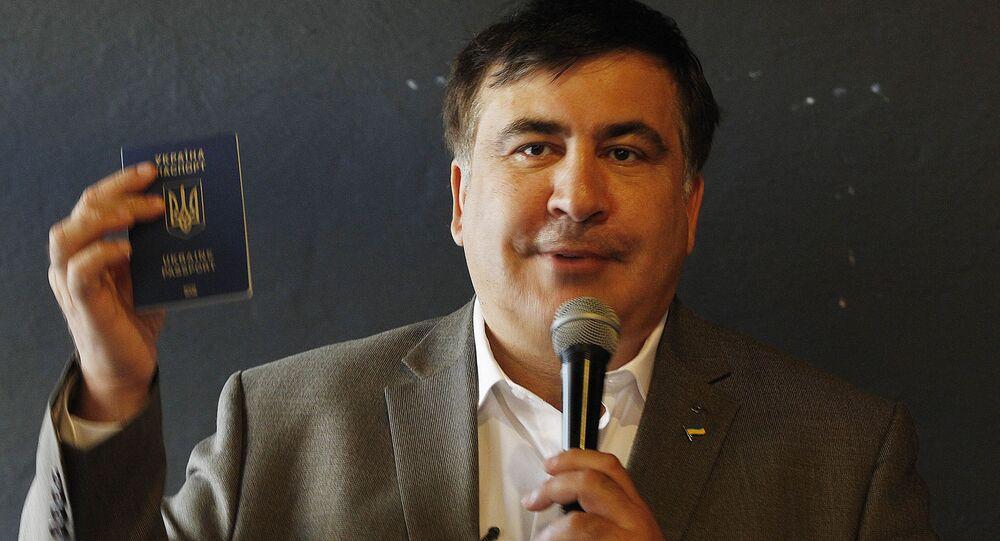 Były prezydent Gruzji Michaił Saakaszwili z ukraińskim paszportem