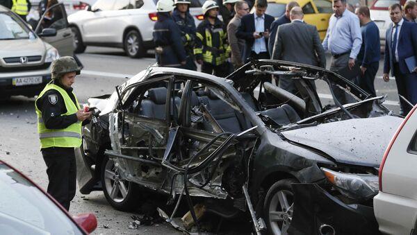 W centrum Kijowa eksplodował samochód - Sputnik Polska
