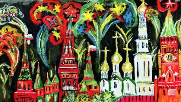Obraz Pokaz sztucznych ogni. Autor Alik Kałmykow, 13 lat - Sputnik Polska