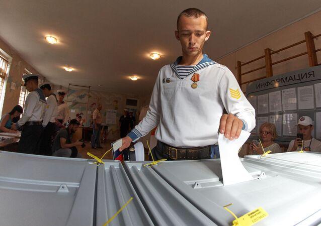 Lokal wyborczy w Sewastopolu