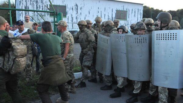 Punkt kontrolny na granicy ukraińsko-polskiej, gdzie ma zamiar przekroczyć granicę były prezydent Gruzji Michaił Saakaszwili - Sputnik Polska