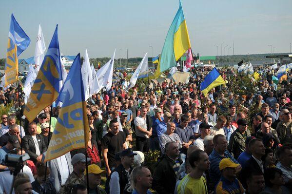 Przejście Krakowiec na ukraińsko-polskiej granicy, gdzie zamierza przekroczyć granicę były prezydent Gruzji Michaił Saakaszwili - Sputnik Polska