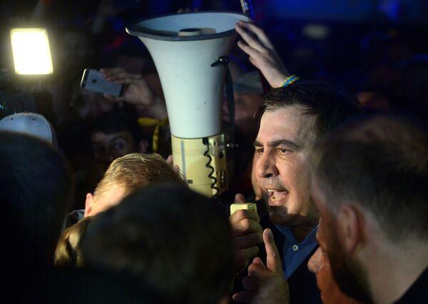 Były prezydent Gruzji Michaił Saakaszwili na ukraińsko-polskiej granicy - Sputnik Polska