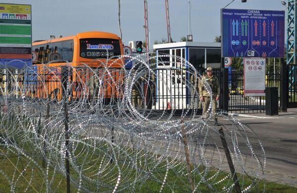 Punkt przejścia granicznego ukraińsko-polskiego Krakowiec - Sputnik Polska