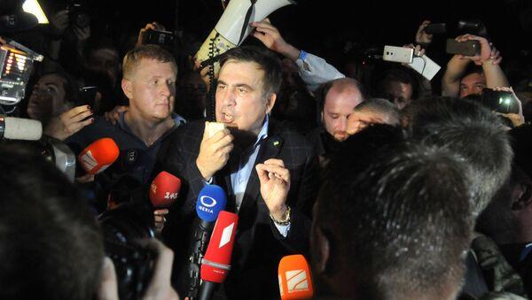 Michaił Saakaszwili na granicy polsko-ukraińskiej - Sputnik Polska