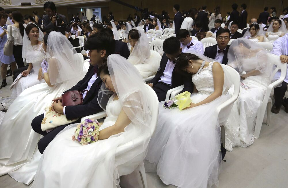 Grupowy ślub w Korei Południowej