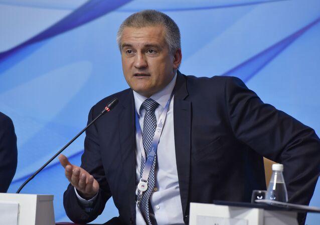 Szef Republiki Krymu Siergiej Aksionow. Zdjęcie archiwalne