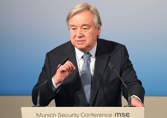 Sekretarz generalny ONZ Antonio Guterres. Zdjęcie archiwalne