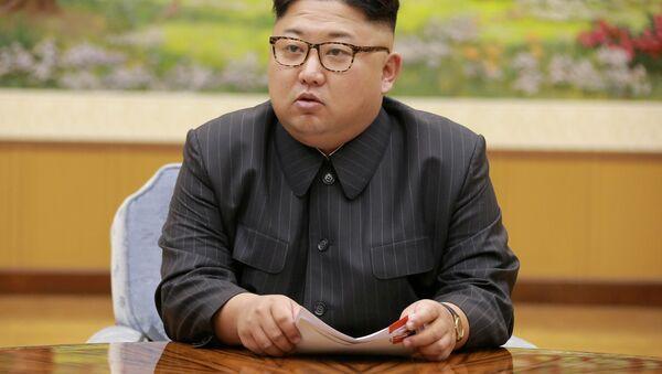 Lider Korei Północnej Kim Dzong Un - Sputnik Polska