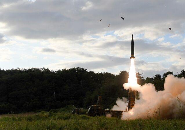Start południowokoreańskiego pocisku balistycznego Hyunmoo-2