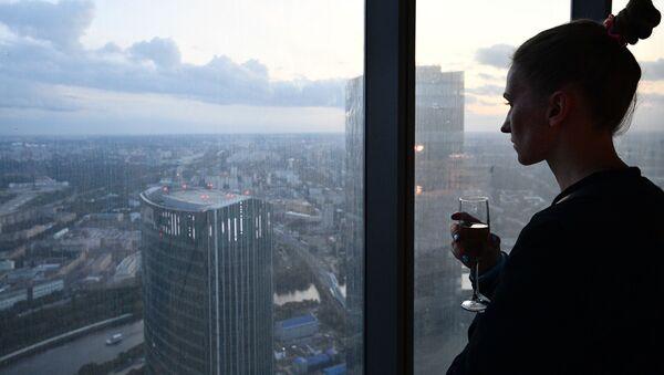 """89 piętro Wieży Federacja Wschód centrum biznesowego """"Moskwa-City"""", gdzie budowana jest najwyższa platforma widokowa w Europie - Sputnik Polska"""