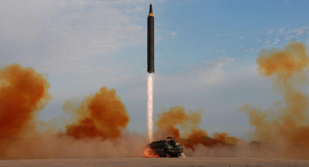 Wystrzał rakiety balistycznej Hwasong-12