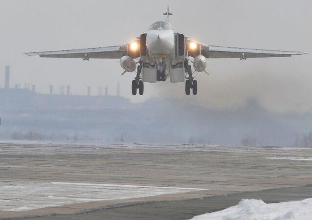 Samolot bombowy Su-24M Sił Powietrzno-Kosmicznych Rosji