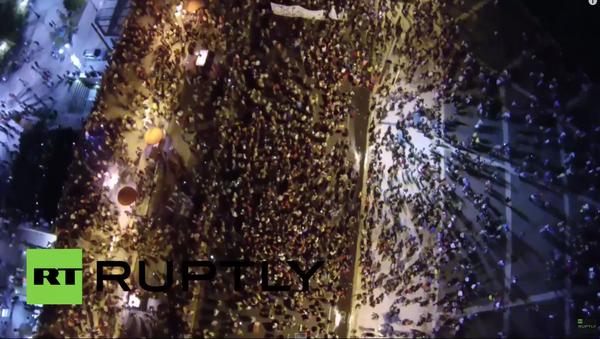 Grecja: zdjęcie referendun z powietrza - Sputnik Polska